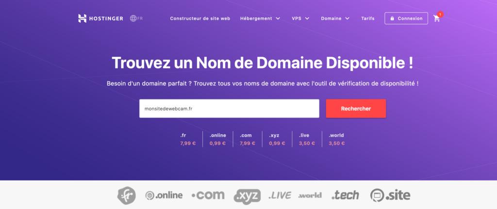 vérifier la disponibilité de votre nom de domain